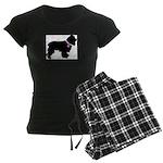 Cocker Spaniel Breast Cancer Women's Dark Pajamas