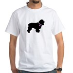 Cocker Spaniel Breast Cancer White T-Shirt