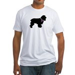 Cocker Spaniel Breast Cancer Fitted T-Shirt