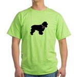 Cocker Spaniel Breast Cancer Green T-Shirt