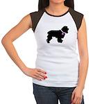 Cocker Spaniel Breast Cancer Women's Cap Sleeve T-