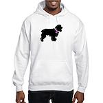 Cocker Spaniel Breast Cancer Hooded Sweatshirt