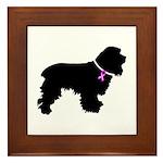 Cocker Spaniel Breast Cancer Framed Tile