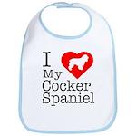 I Love My Cocker Spaniel Bib