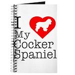 I Love My Cocker Spaniel Journal