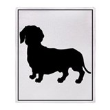 Dachshund Silhouette Throw Blanket