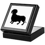 Dachshund Silhouette Keepsake Box