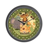 Jungle Safari Wall Clock Personalized Colton
