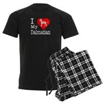 I Love My Dalmation Men's Dark Pajamas