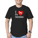 I Love My Dalmation Men's Fitted T-Shirt (dark)