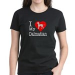 I Love My Dalmation Women's Dark T-Shirt