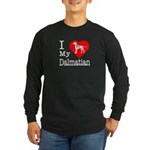 I Love My Dalmation Long Sleeve Dark T-Shirt