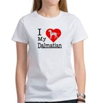 I Love My Dalmation Women's T-Shirt