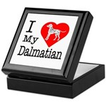 I Love My Dalmation Keepsake Box