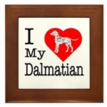 I Love My Dalmation Framed Tile