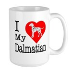 I Love My Dalmation Large Mug
