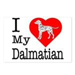 I Love My Dalmation Postcards (Package of 8)
