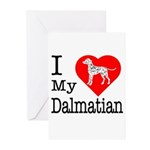 I Love My Dalmation Greeting Cards (Pk of 10)