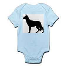 German Shepherd Silhouette Infant Bodysuit