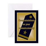 U.S. Naval Officer Commission Greeting Card
