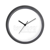 clock Wall w/ iSphere type logo in white