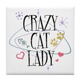 Crazy Cat Lady Tile Coaster