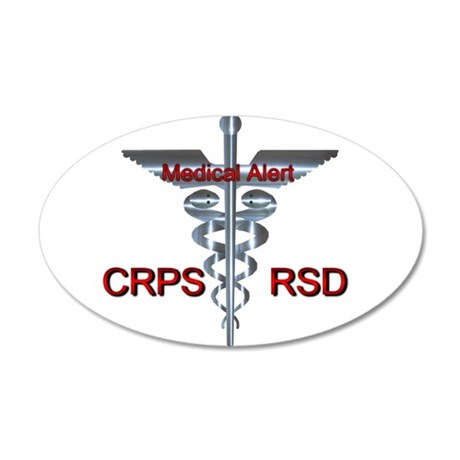 CRPS / RSD Medical Alert 38.5 x 24.5 Oval Wall Pee
