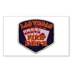 Las Vegas Fire Department Sticker (Rectangle 50 pk