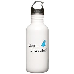 Oops I Tweeted Stainless Water Bottle 1.0L