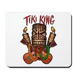 The Tiki King crossed Ukes Logo Mousepad