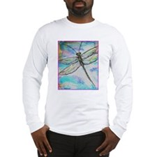 Dragonfly, colorful, Long Sleeve T-Shirt