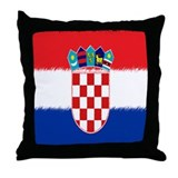 Croatian Flag Throw Pillow