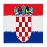 Croatian Flag Tile Coaster
