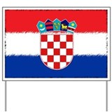 Croatian Flag Yard Sign