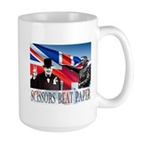 Scissors Beat Paper Coffee Mug