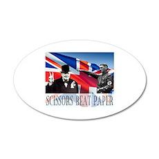 Scissors Beat Paper 38.5 x 24.5 Oval Wall Peel