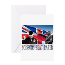Scissors Beat Paper Greeting Card