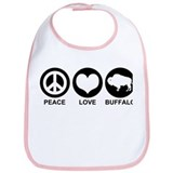 Peace Love Buffalo Bib