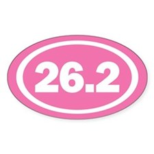 26.2 Pink Oval True Decal