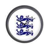 Lionheart Three Lions Wall Clock