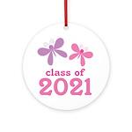2021 Girls Graduation Ornament (Round)