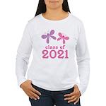 2021 Girls Graduation Women's Long Sleeve T-Shirt