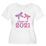 2021 Girls Graduation Women's Plus Size Scoop Neck