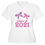 2021 Girls Graduation Women's Plus Size V-Neck T-S