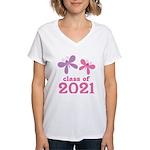 2021 Girls Graduation Women's V-Neck T-Shirt