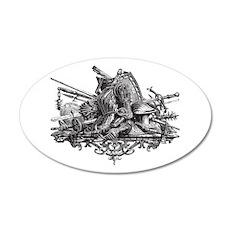 Medieval Armor 38.5 x 24.5 Oval Wall Peel