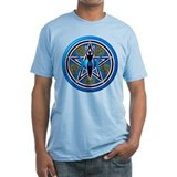 Blue-Gold Goddess Pentacle Shirt