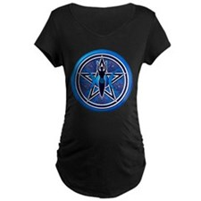 Blue-Silver Goddess Pentacle T-Shirt