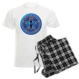 Blue-Silver Goddess Pentacle pajamas