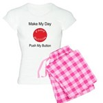 Make My Day Fart Button White Women's Light Pajama